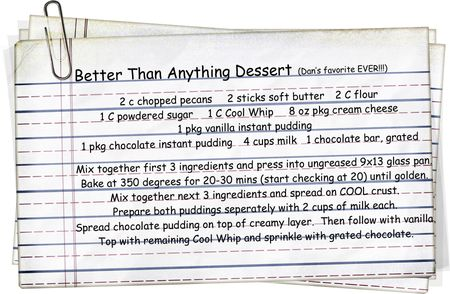 Dan's Favorite Dessert