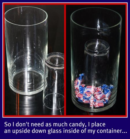 Candy glass collage
