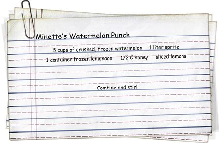 Minette's Watermelon Punch