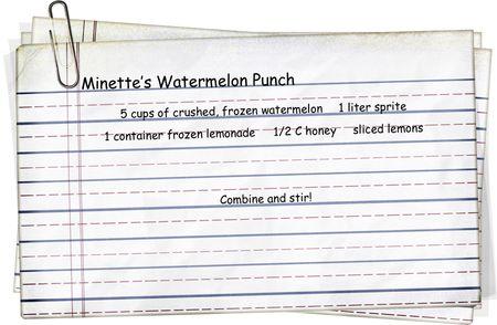 Minette's Watermelon Punch