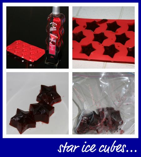 Ice cubes collage