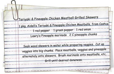 Teriyaki & Pineapple Meatball Skewers