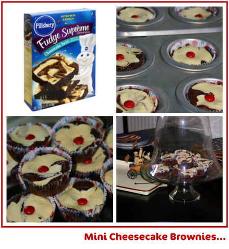 Mini Cheesecake Brownies collage