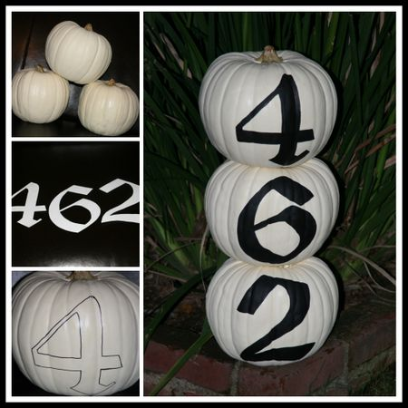 Number pumpkins