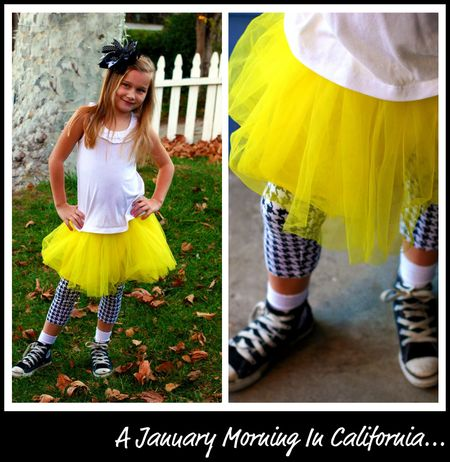 Yellow Tutu collage
