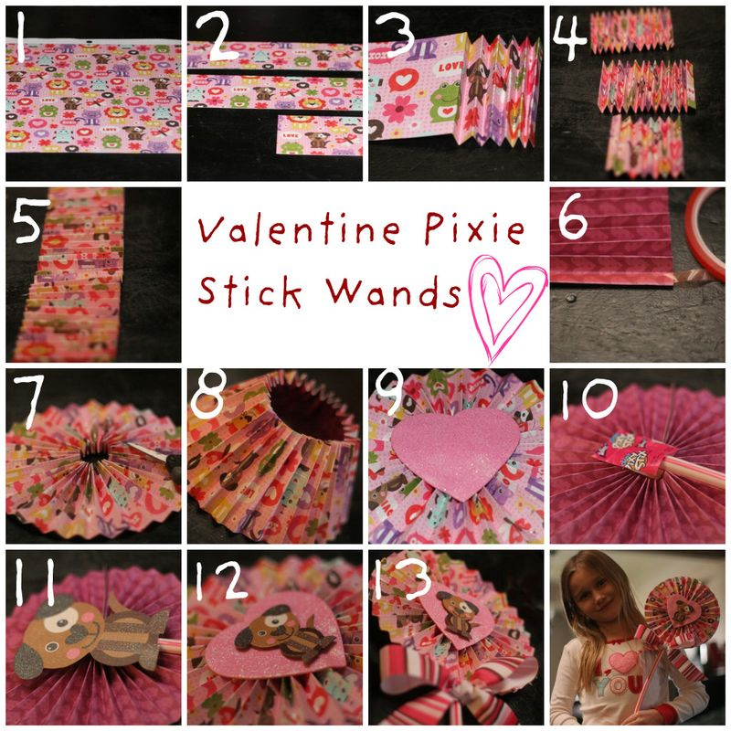 Valentine Pixie Stick Wands