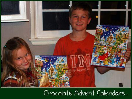 Advent chocolate