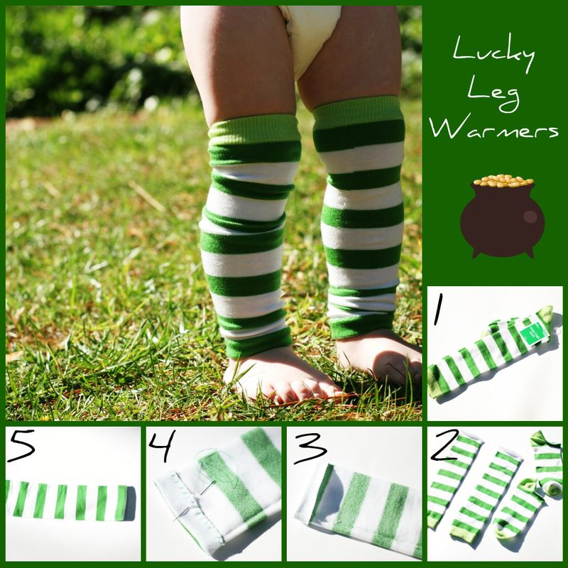 Lucky Leg Warmers | Easy St Patrick's Day Decorations | Sewing Projects | Featured