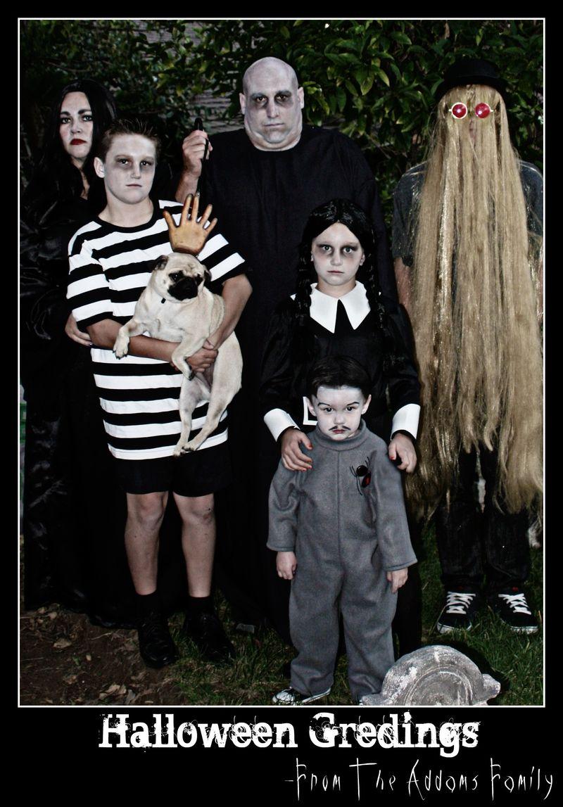 Addams Family Halloween Gredings