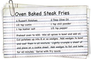 Oven Baked Steak Fries