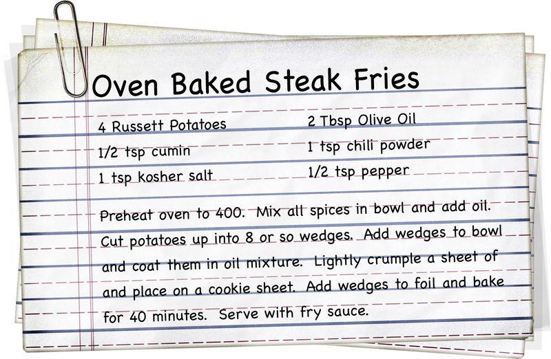 Oven Baked Steak Fries