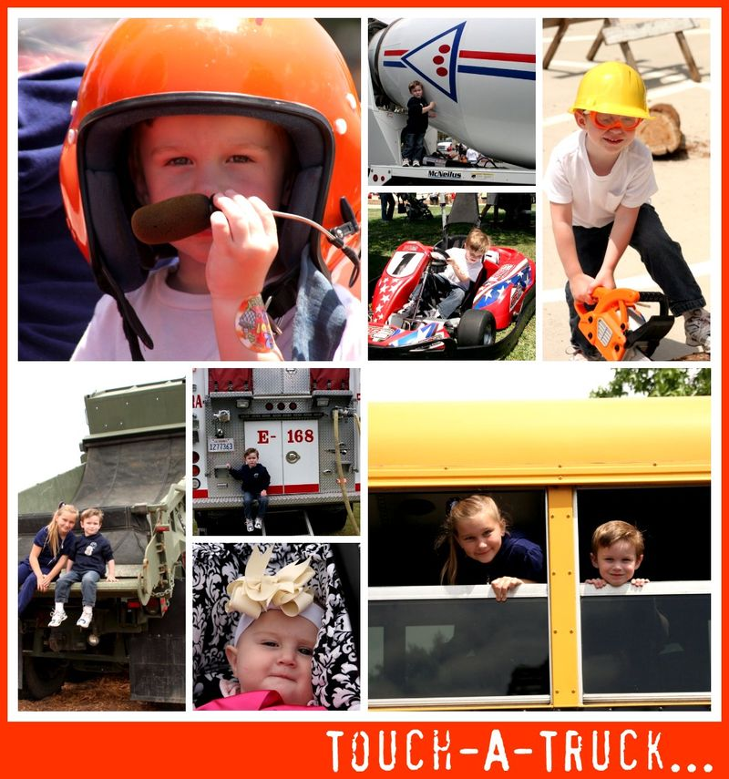 Touch A Truck Collage