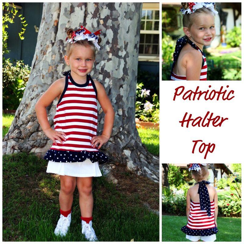 Patriotic halter