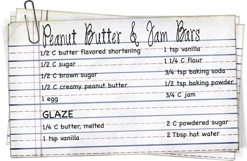 Peanut Butter Jam Bars