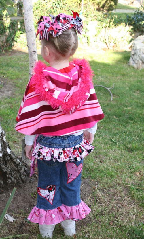 Valentine Jeans and Poncho