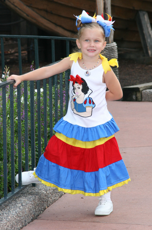 Snow White Tank and Tiered Skirt